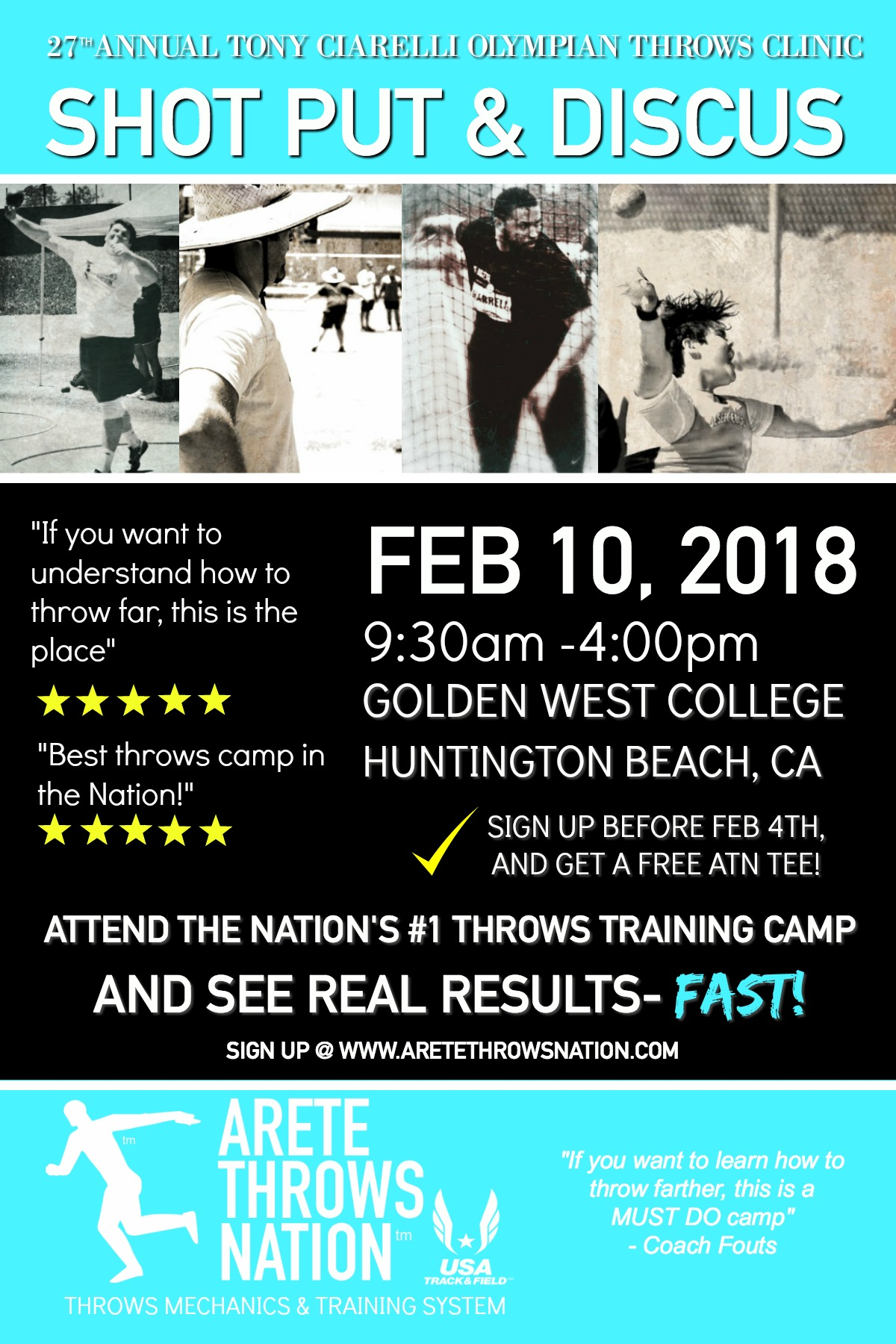 shot put and discus camp orange county